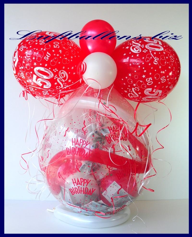 geschenkballon luftballon zum verpacken von geschenken zum 50 geburtstag lu geschenkverpackung. Black Bedroom Furniture Sets. Home Design Ideas
