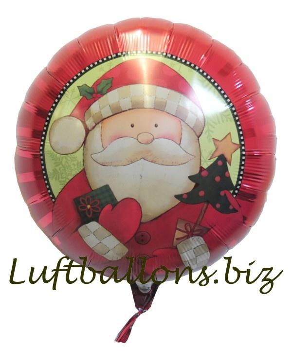 Folienballon Set Weihnachten Deko Weihnachtsmann Helium Luftballon große