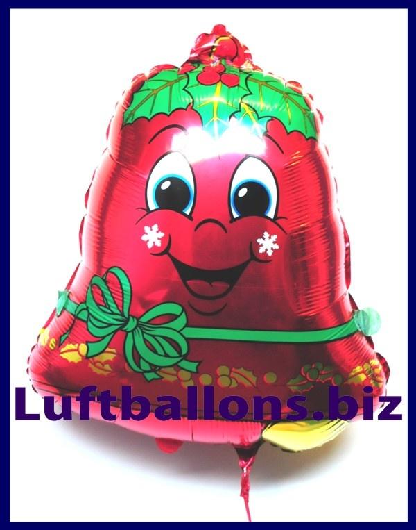 weihnachtsmann luftballon mit helium weihnachtsglocke. Black Bedroom Furniture Sets. Home Design Ideas