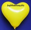 Gelbe Herzluftballons, 40 cm, 50 Stück