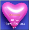 Pinkfarbene Herzluftballons, 40 cm, 10 Stück