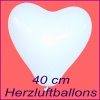 Weiße Herzluftballons, 40 cm, 100 Stück
