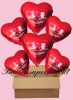6 Luftballons mit Helium zur Hochzeit, Alles Gute zur Hochzeit, Rot, Hochzeitstauben, Folien-Luftballons