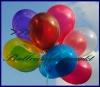 Deko-Luftballons, Kristallfarben, Burgund, 28-30 cm, 100 Stück