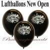 Neueröffnung Luftballons, New Open, Schwarz