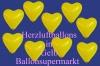 Herzluftballons, Herzballone, Luftballons in Herzform, 50 Stück, Gelb, 30-33 cm