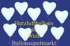 Herzluftballons, Herzballone, Luftballons in Herzform, 50 Stück, Weiß, 30-33 cm