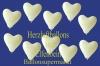 Herzluftballons, Herzballone, Luftballons in Herzform, 100 Stück, Elfenbein, 30-33 cm