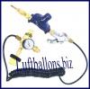 Kombi-Aufblasventil, Helium Ballongas, für Latex-Luftballons, Folienballons und PVC-Luftballons
