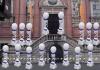Romantische Ballondekoration Hochzeit, Weiß-Lila, 3 Stück mit Helium-Einweg