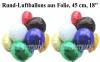 Rundluftballons aus Folie, 45 cm, verschiedene Farben