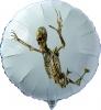 Halloween, Skelett-Deko-Luftballon aus Folie mit Helium