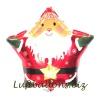 Weihnachtsmann-Luftballon, Sternballon mit Helium, Geschenk zu Weihnachten