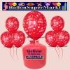 Luftballons Helium Einweg Set, Hochzeit, Just Married Luftballons, Rot, 30 Stück