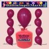 Luftballons Helium Einweg Set, Rundballons, Dunkelrosa, 30 Stück