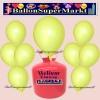 Luftballons Helium Einweg Set, Rundballons, Zitronengelb, 30 Stück