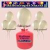Luftballons Helium Einweg Set, Herzluftballons, elfenbein, 50 Stück