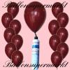 Luftballons Helium Set, Miniflasche, Latex-Luftballons in Burgund