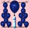 Luftballons Helium Set, Miniflasche, Latex-Luftballons in Marineblau