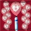 Luftballons Helium Set, Miniflasche, Latex-Luftballons mit Tauben, Zur Hochzeit