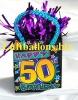 Ballongewicht, Geburtstag Dekoration, Geschenktüte, Happy 50th Birthday