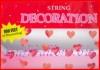 Herzdeko-Girlanden, Partydeko Herzen, Herzketten-Dekoration