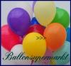 Deko-Luftballons, Standardfarben, Orange, 28-30 cm, 100 Stück