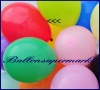 Deko-Luftballons, Standardfarben, Rot, 28-30 cm, 25 Stück
