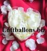 Dekoration zur Hochzeit, Tischdekoration, Herzbox mit 200 Rosenblättern in Elfenbein