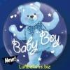 Double-Bubble, Insider PVC-Luftballon, Baby Bär zur Geburt, Junge