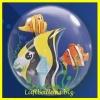Double-Bubble, Insider PVC-Luftballon, Tropenfische, mit Helium-Ballongas
