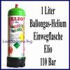 Helium Einwegflasche, 1 Liter Heliumgas, Ballongas