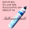 Luftballons Helium Set, Miniflasche, Latex-Luftballons in Silber, Just Married