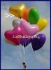 Goldene Herzluftballons, 40 cm, 50 Stück