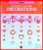 Herzdeko-Hänger, Glitterherzen-Dekoration, 5 Stück