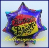 Happy Birthday Blast, Folien-Luftballon zum Geburtstag mit Helium Ballongas