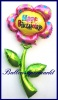 Happy Birthday Blume, Deko-Luftballon aus Folie