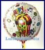 Happy Birthday Musikballon, Folien-Luftballon mit Geburtstagsmusik, singender Ballon