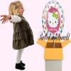 Hello Kitty Rainbow Luftballon mit Helium, Kindergeburtstag u. Geschenk