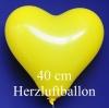 Gelbe Herzluftballons, 40 cm, 100 Stück