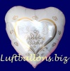 Luftballons Helium Set Hochzeit, 50 Folien-Herzluftballons, Wedding Wishes, mit Ballongas