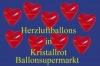 Herzluftballons, Herzballone, Luftballons in Herzform, 50 Stück, Kristallrot, 30-33 cm