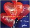 Herzluftballons I Love You, 10 Stück