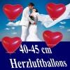 Rote Herzluftballons, 40 cm, 100 Stück