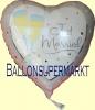 18 Luftballons mit Helium zur Hochzeit, Just Married. frisch verheiratet mit Sektgläsern, Folienballone