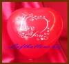 Mini-Herzluftballons, 8-12 cm, Rot, bedruckt: I Love You, 50 Stück