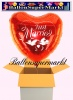 Luftballon zur Hochzeit, Folienballon, Just Married Jumbo, Rot, mit Helium