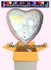 Luftballon zur Hochzeit, Just Married Jumbo, Sekt, mit Helium