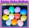 "Luftballons Mini, 12-16 cm, 7"", bunt sortiert, 100 Stück"