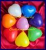 Mini-Herzluftballons, 8-12 cm, Orange, 100 Stück